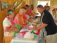 Image of luau buffet
