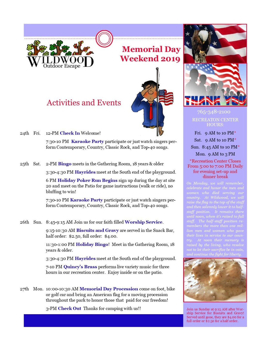 Image of activities & events for memorial day weekend